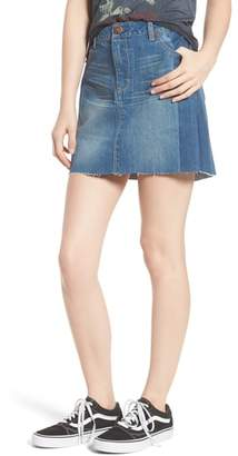 1822 Denim Two Tone Denim Skirt