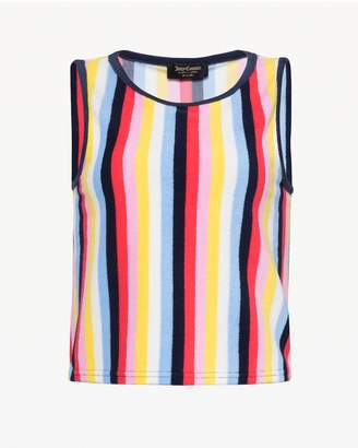 Juicy Couture Multicolor Stripe Microterry Tank