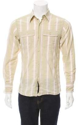 Bottega Veneta Striped Button-Up Shirt