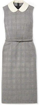 Comme des Garcons Belted Checked Wool Dress - Black