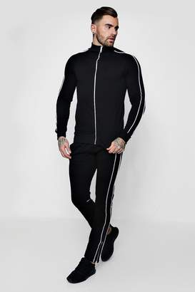 boohoo Skinny Fit Piped Tracksuit