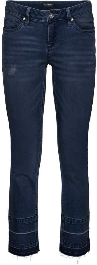 BODYFLIRT Jeans mit offenen Kanten