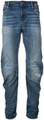 G Star Research faded straight leg jeans