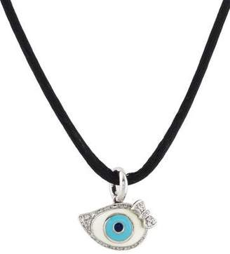Aaron Basha 18K Evil Eye Pendant Necklace