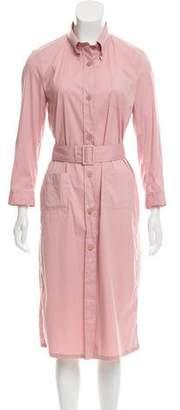 Prada Button-Up Midi Dress