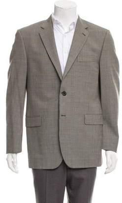 Burberry Plaid Wool Blazer