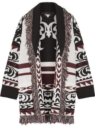 Etro - Fringed Wool-jacquard Cardigan - Off-white $1,760 thestylecure.com
