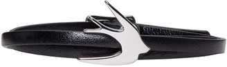 McQ Alexander Mcqueen Black Swallow Mini Wrap Bracelet $65 thestylecure.com