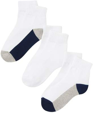 Crazy 8 Crazy8 Quarter Sock 3-Pack