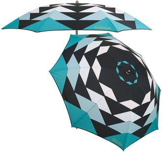 Klaoos - Kaleidoscope Beach Umbrella - Water Green