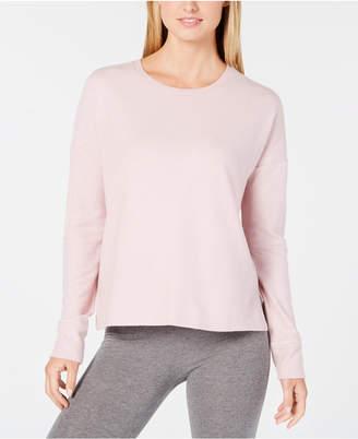 Alfani Brushed Hacci Knit Pajama Top