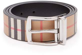 Burberry Reversible Vintage Check Belt - Mens - Tan Multi