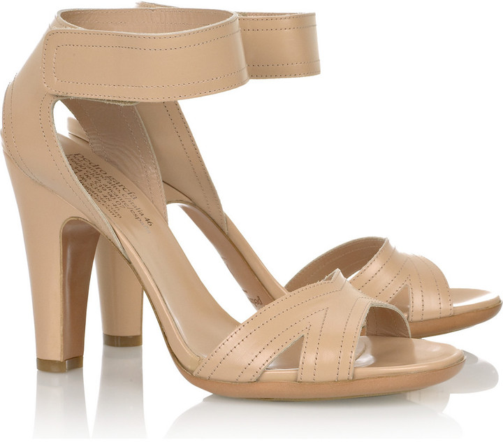 Pedro Garcia Jessie glazed-leather sandals