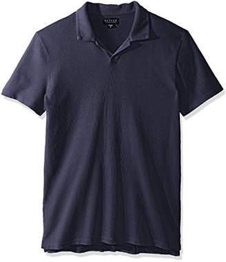 Velvet by Graham & Spencer Men's Velvet's Short-Sleeve Vintage Jersey Buttonless Polo