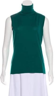 dcf29eda92e Green Sleeveless Turtleneck - ShopStyle