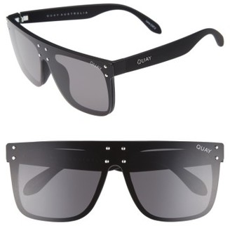 Women's #quayxkylie Hidden Hills 59Mm Shield Sunglasses - Black $75 thestylecure.com