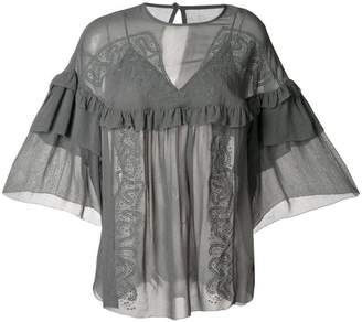 IRO ruffle-detail draped blouse