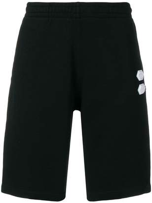 Off-White logo patch shorts