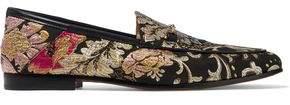 Sam Edelman Loraine Leather-Trimmed Brocade Loafers