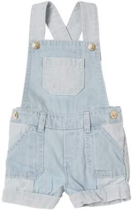 Chloé Stretch Light Cotton Denim Overalls