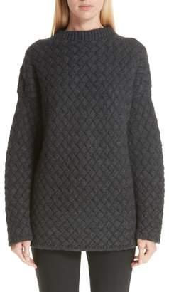 Mansur Gavriel Oversized Braided Cashmere Sweater