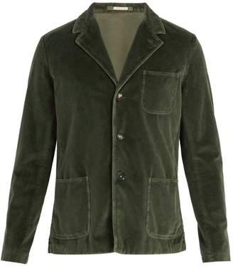 Massimo Alba Baglietto single-breasted velvet blazer