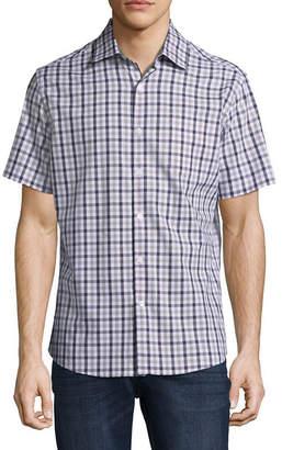 Claiborne Mens Short Sleeve Button-Front Shirt
