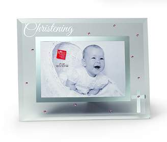 Russ Berrie Small Blessings Christening Glass Photo Frame