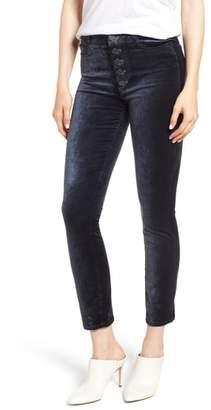 Paige Hoxton High Waist Ankle Peg Velvet Jeans