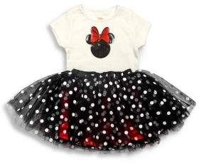 TUTU COUTURE Toddler's, Little Girl's& Girl's Minnie Sequin Tee& Skirt Set