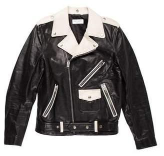 Saint Laurent 2014 Colorblock Classic Moto Jacket