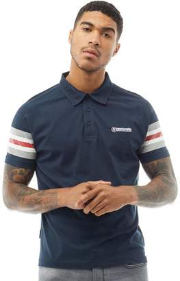 Lambretta Mens Contrast Sleeve Polo Navy