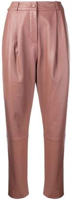 Zimmermann high-waisted nappa leather trousers