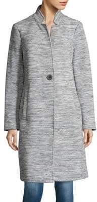 Kenneth Cole Cutout Notch Lapel Coat