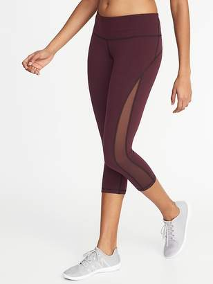 Old Navy Mid-Rise Side-Mesh Compression Crops