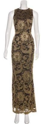 Alice + Olivia Sleeveless Maxi Dress Gold Sleeveless Maxi Dress