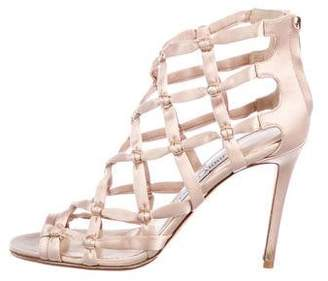 Jimmy Choo Satin Caged Sandals