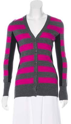 Trina Turk Colorblock Wool Cardigan