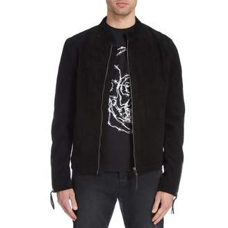 Black Jolt Suede Leather Jacket