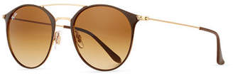 Ray-Ban Gradient Round Double-Bridge Sunglasses $175 thestylecure.com