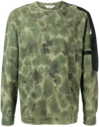 1017 Alyx 9SM tie-dye contrast sweatshirt