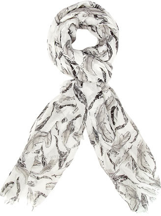 Dorothy Perkins Black and white feather scarf