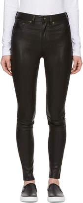 Rag & Bone Black High-Rise Leather Pants