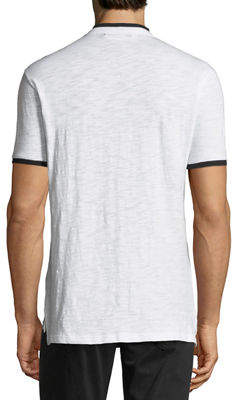 Karl Lagerfeld Paris Short-Sleeve Slub-Knit Henley