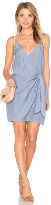 FAITHFULL THE BRAND Kara Wrap Dress in Blue $139 thestylecure.com