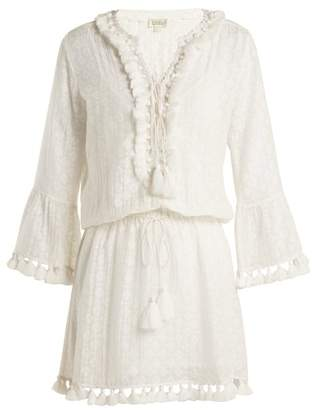 Talitha - Ria Tassel Trimmed Silk And Cotton Blend Dress - Womens - White