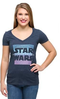 Fifth Sun womens Women's Star Wars Ep 7 Prism Awakens V-Neck T-Shirt
