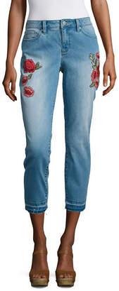 A.N.A Skinny Capri Embroidered Pant- Talls