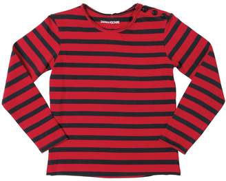 Zadig & Voltaire Zadig&voltaire Skull Striped Cotton Interlock T-Shirt