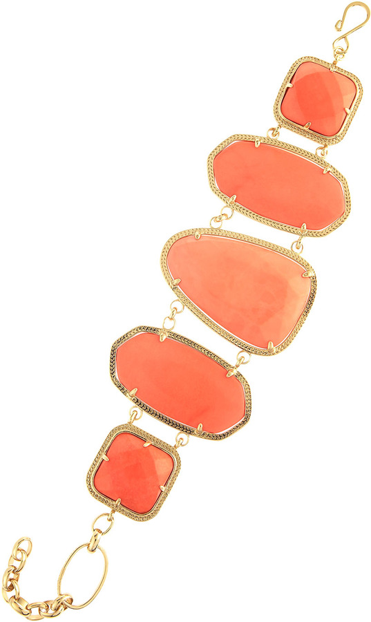 Kendra Scott Wanetta Salmon Magnesite Bracelet